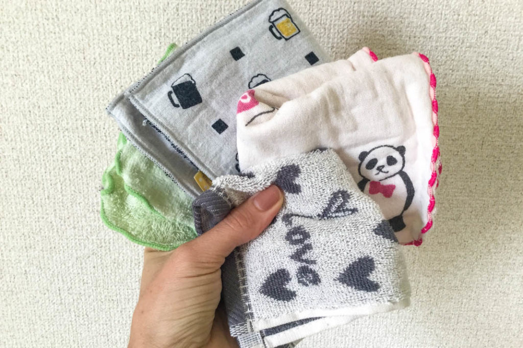 Mini towels, very useful for a hot and sweaty summer in Japan!