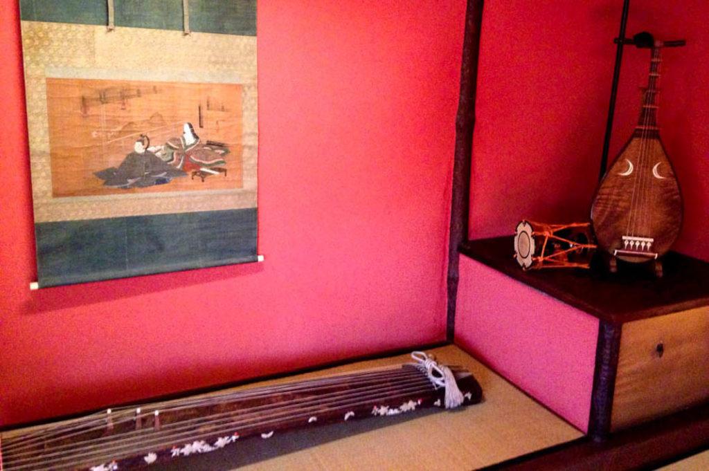 Musical instruments played by geisha at Shima Geisha House