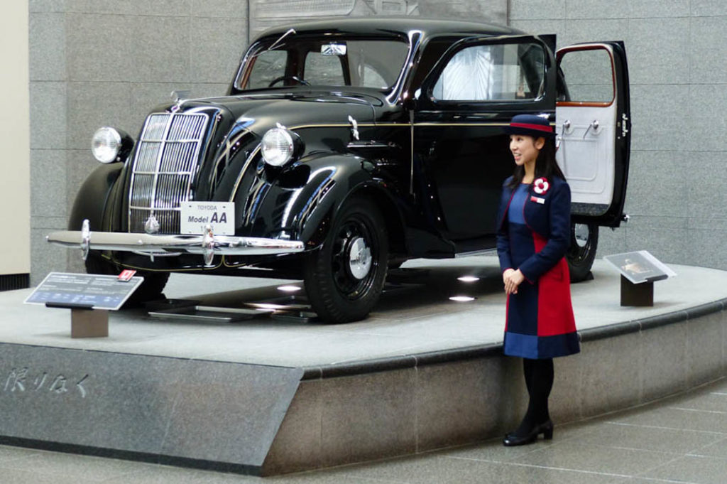A replica of the Toyoda Model AA, Toyota's first car