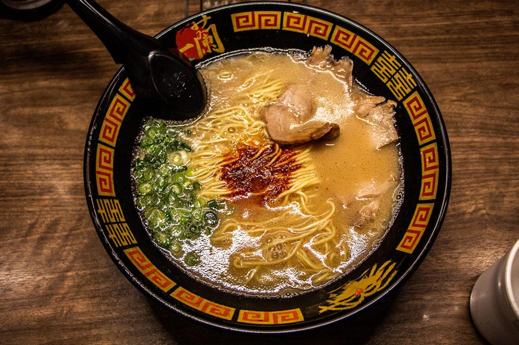 Delicious Hakata ramen, aka tonkotsu ramen at Ichiran