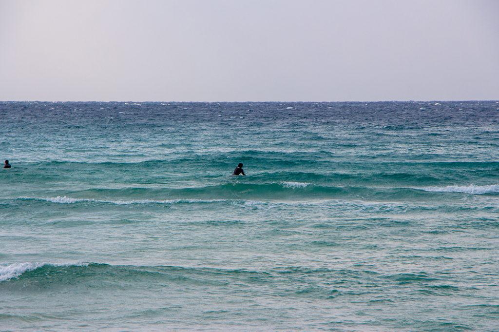 Surfers at Takahama Beach
