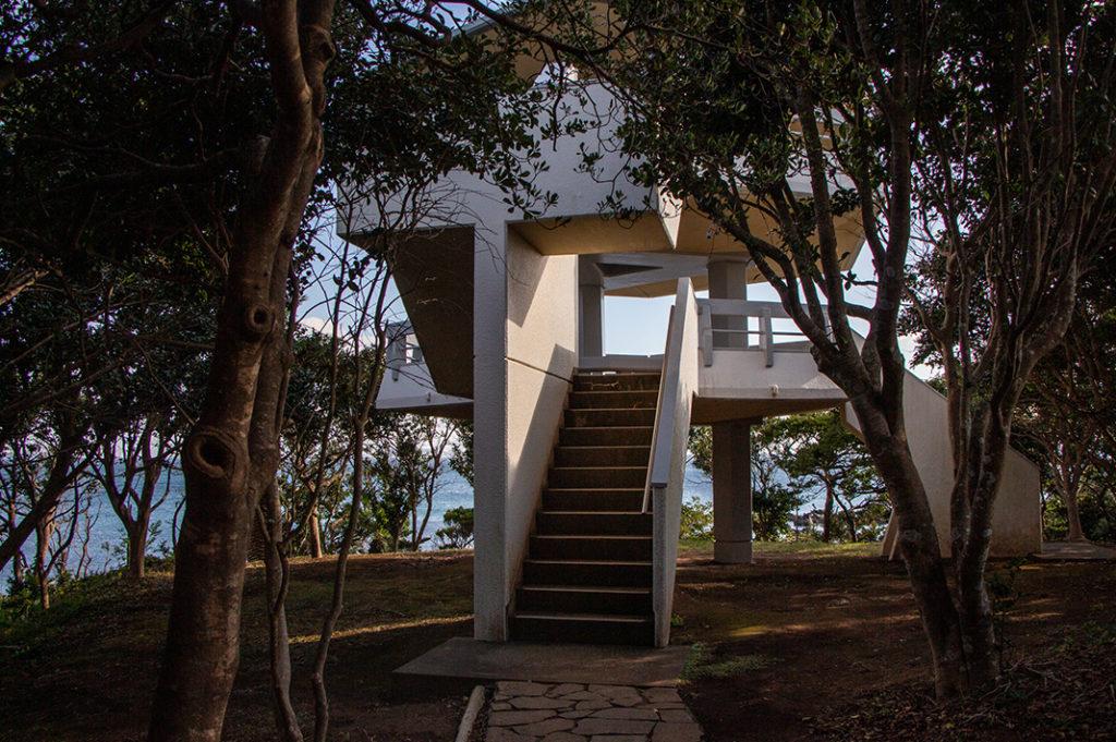 Observation deck at Abunze Visitor Center