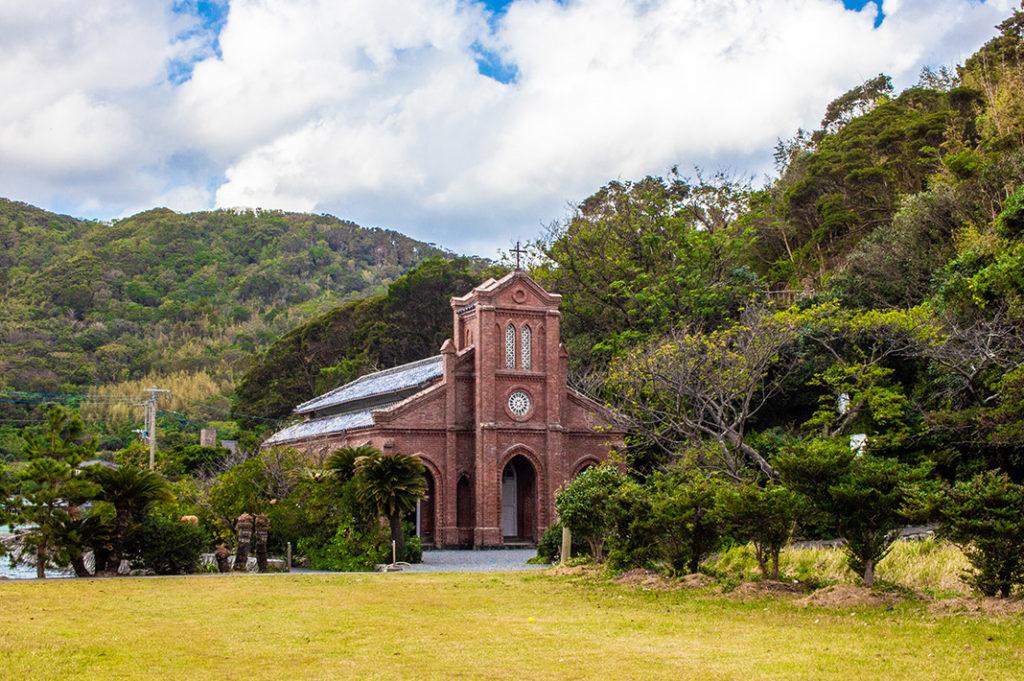 Fukue Island is the largest of the Goto Islands, famous for local cuisine, beautiful coastal scenery and abundance of Catholic churches.