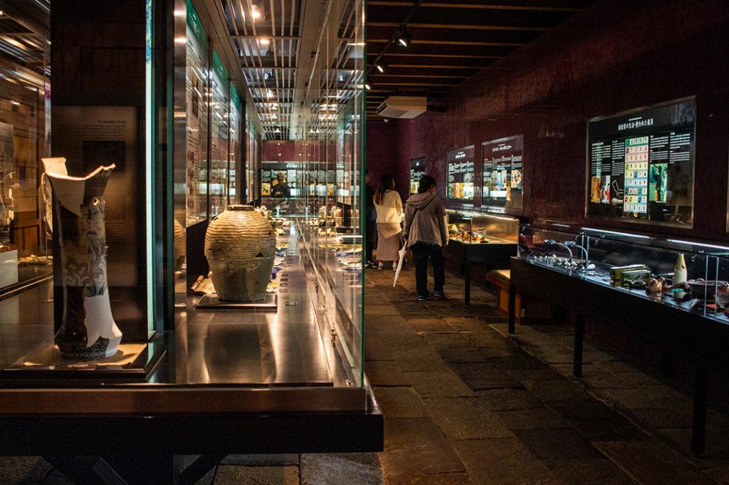 Artefacts on display at Dejima, Nagasaki's Dutch Trading Post