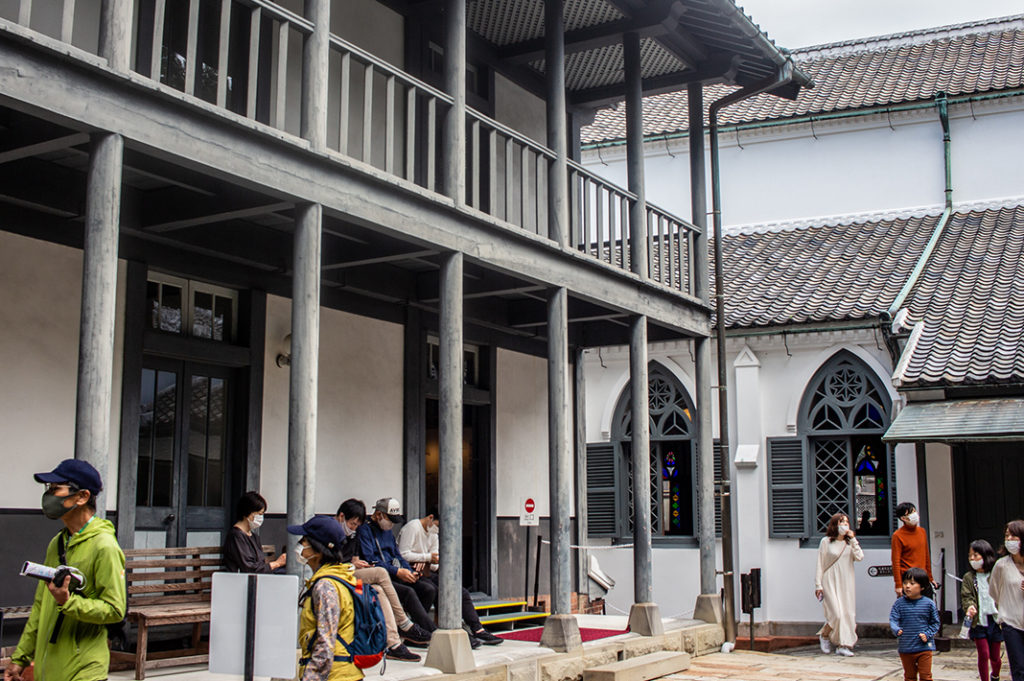 The museum behind Oura Church: tells the history of Christianity in Nagasaki