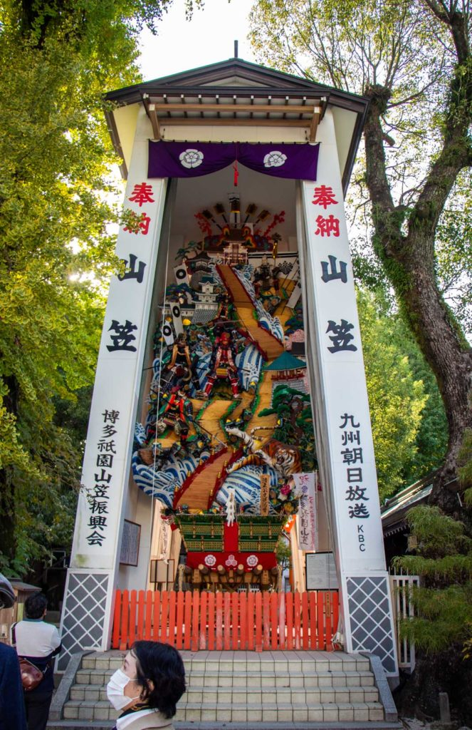 Kushida Shrine, with an impressive parade float, fountain of youth and  many more surprises, is one of our favourite Shinto shrines in Fukuoka!