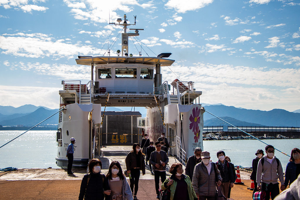 The ferry to Nokonoshima