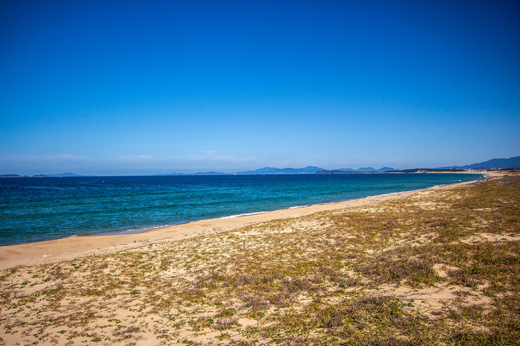 Beautiful sea-views at Uminonakamichi Seaside Park