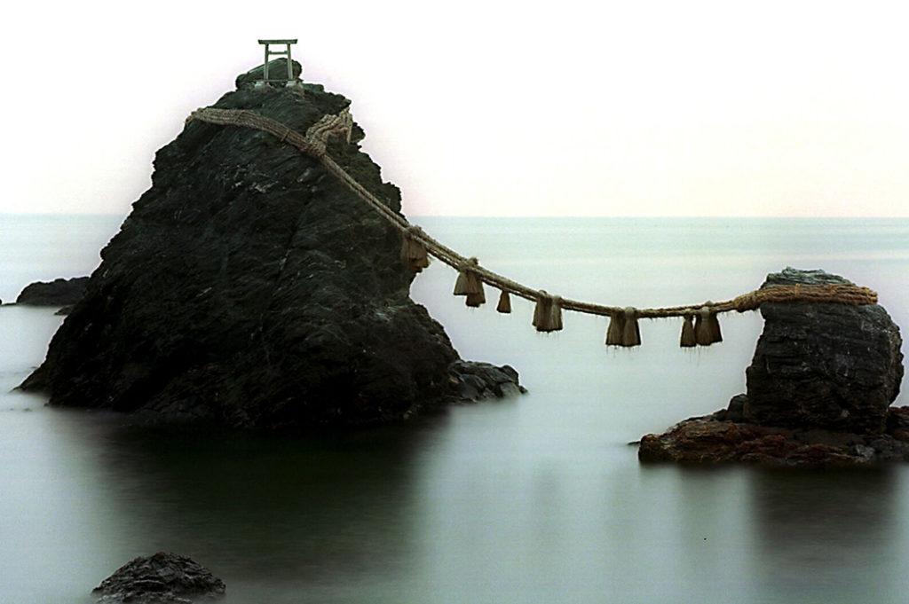 Meoto Iwa (Married Couple Rocks) in Mie Prefecture, Japan.