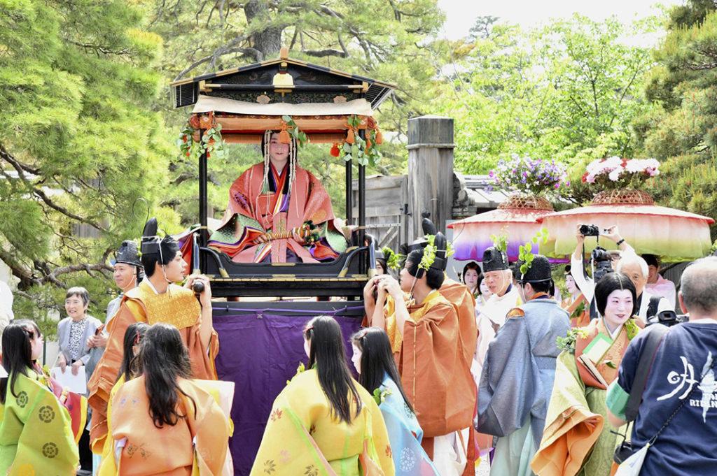 A festival procession in Kyoto